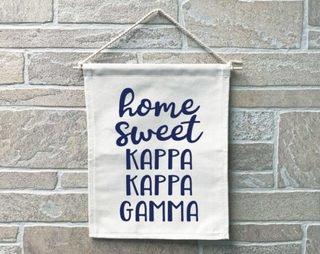 Kappa Kappa Gamma Home Sweet Home Banner