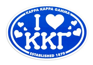 Kappa Kappa Gamma I Love Sorority Sticker - Oval
