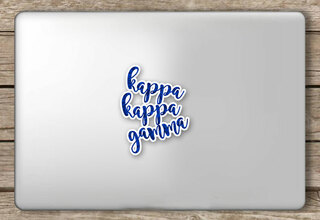 Kappa Kappa Gamma Script Sticker