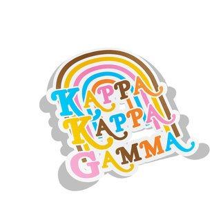 Kappa Kappa Gamma Joy Decal Sticker