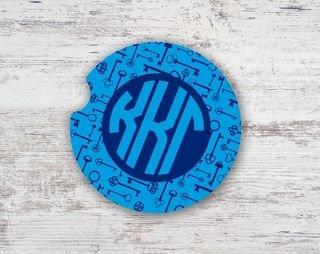 Kappa Kappa Gamma Keys Sandstone Car Cup Holder Coaster