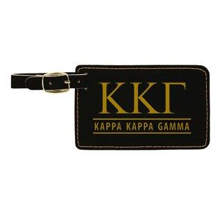 Kappa Kappa Gamma Leatherette Luggage Tag