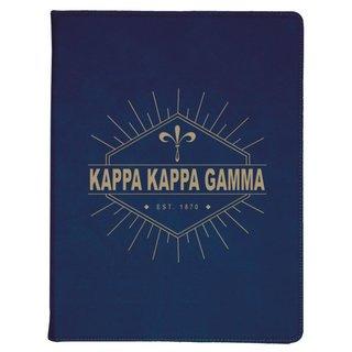 Kappa Kappa Gamma Leatherette Mascot Portfolio with Notepad