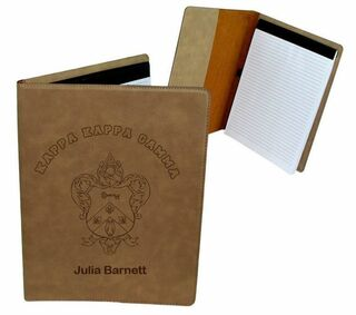 Kappa Kappa Gamma Leatherette Portfolio with Notepad