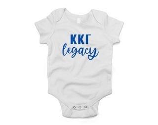 Kappa Kappa Gamma Legacy Baby Outfit Onesie