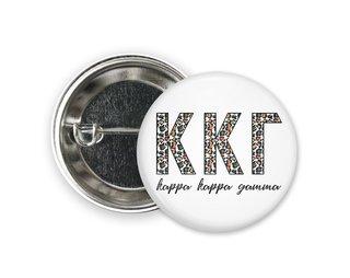 Kappa Kappa Gamma Leopard Button