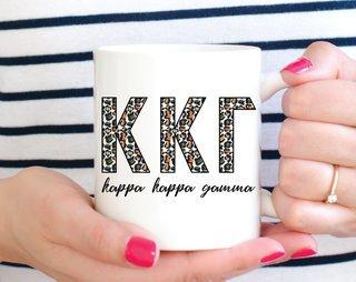 Kappa Kappa Gamma Leopard Mug