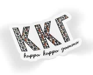 Kappa Kappa Gamma Leopard Sticker