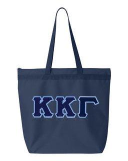 DISCOUNT-Kappa Kappa Gamma Lettered Game Day Tote