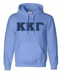 Kappa Kappa Gamma Lettered Greek Hoodie- MADE FAST!