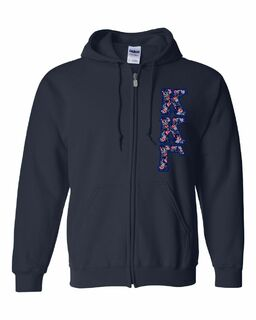 "Kappa Kappa Gamma Lettered Heavy Full-Zip Hooded Sweatshirt (3"" Letters)"