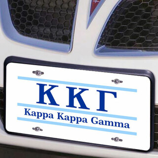 Kappa Kappa Gamma Lettered Lines License Cover