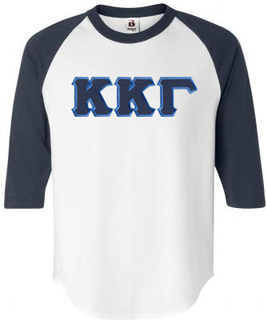 DISCOUNT-Kappa Kappa Gamma Lettered Raglan Shirt