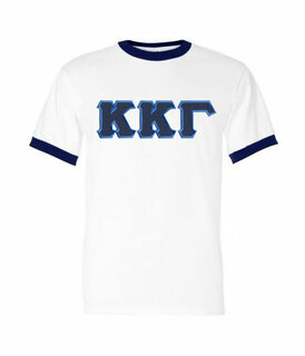DISCOUNT-Kappa Kappa Gamma Lettered Ringer Shirt