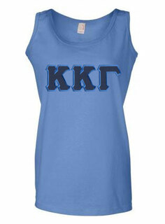 DISCOUNT-Kappa Kappa Gamma Lettered Ladies Tank Top