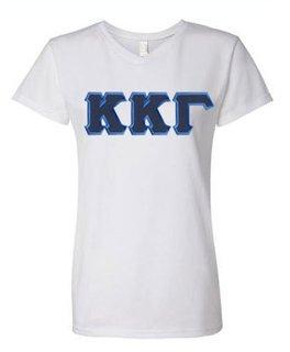 DISCOUNT-Kappa Kappa Gamma Lettered V-Neck Tee
