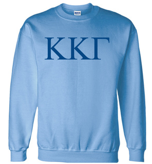 Kappa Kappa Gamma Lettered World Famous Greek Crewneck