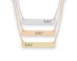 Kappa Kappa Gamma Letters Bar Necklace