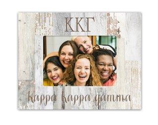 Kappa Kappa Gamma Letters Barnwood Picture Frame