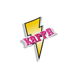 Kappa Kappa Gamma Lightning Bolt Decal