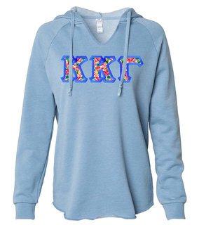 Kappa Kappa Gamma Lightweight California Wavewash Hooded Pullover Sweatshirt