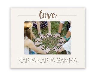 Kappa Kappa Gamma Love Picture Frame