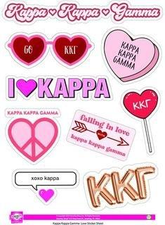 Kappa Kappa Gamma Love Theme Stickers