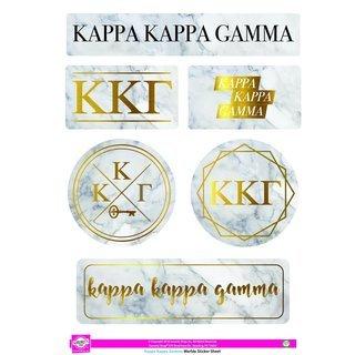 Kappa Kappa Gamma Marble Sticker Sheet