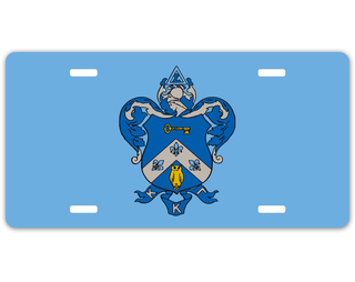 Kappa Kappa Gamma Crest - Shield License Plate