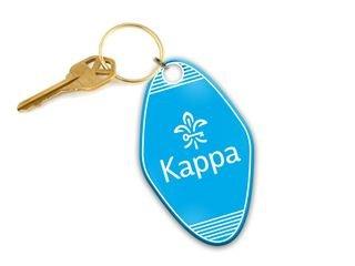 Kappa Kappa Gamma Mascot Motel Keychain