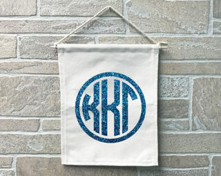Kappa Kappa Gamma Monogram Banner