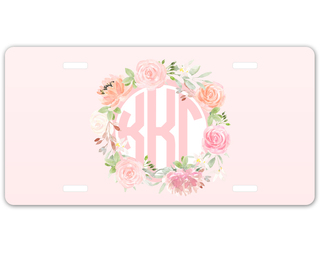 Kappa Kappa Gamma Monogram License Plate