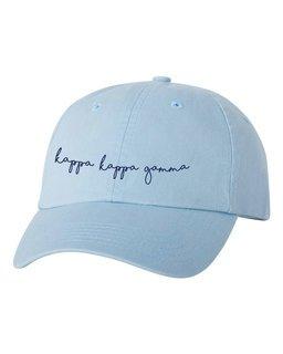 Kappa Kappa Gamma Smiling Script Greek Hat