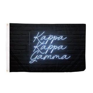 Kappa Kappa Gamma Neon Flag
