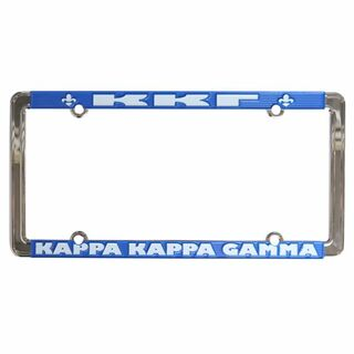 Kappa Kappa Gamma New Design License Plate Frame