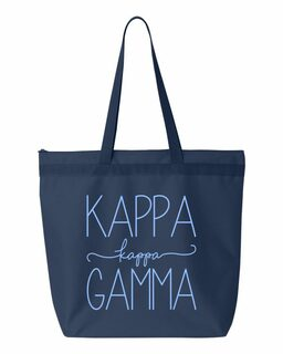 Kappa Kappa Gamma New Handwriting Tote Bag