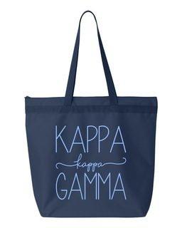Kappa Kappa Gamma New Handwriting Tote Bag