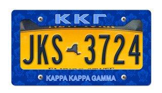 Kappa Kappa Gamma New License Plate Frame
