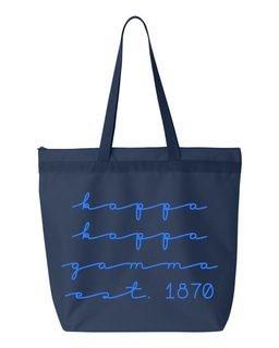 Kappa Kappa Gamma New Script Established Tote Bag