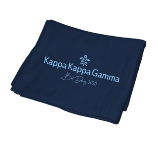 Kappa Kappa Gamma Mascot Sweatshirt Blanket