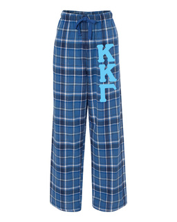 Kappa Kappa Gamma Pajamas -  Flannel Plaid Pant