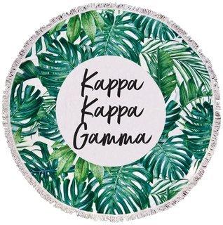 Kappa Kappa Gamma Palm Leaf Fringe Towel Blanket