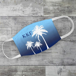 Kappa Kappa Gamma Palm Trees Face Mask