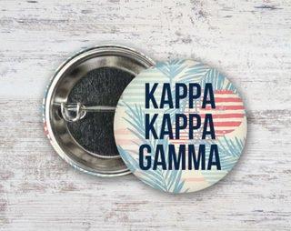 Kappa Kappa Gamma Paradise Found Button