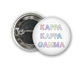 Kappa Kappa Gamma Pastel Letter Button