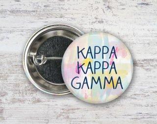 Kappa Kappa Gamma Pastel Strokes Button