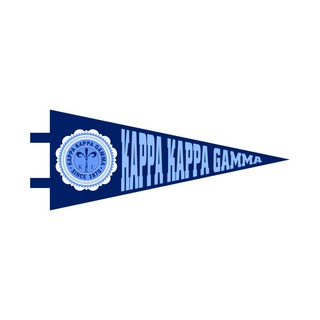 "Kappa Kappa Gamma Pennant Decal 4"" Wide"