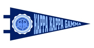 Kappa Kappa Gamma Pennant Decal Sticker