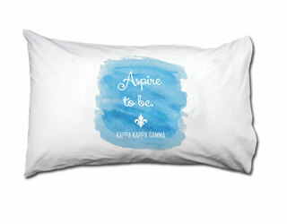 Kappa Kappa Gamma Motto Watercolor Pillowcase