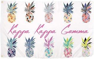 Kappa Kappa Gamma Pineapple Flag